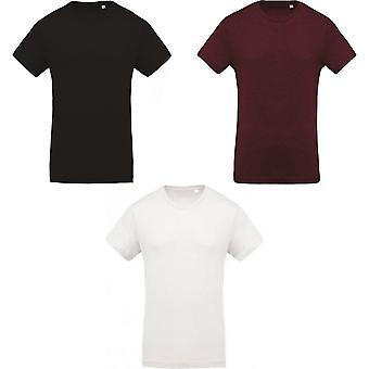 Kariban Mens Organic Cotton Crew Neck T-Shirt