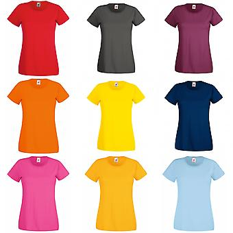 Fruit des dames Loom/Womens Lady-Fit Valueweight Short Sleeve T-Shirt