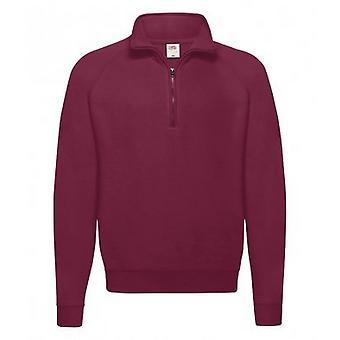 Fruit of the Loom Adults Unisex Classic Zip Neck Sweatshirt