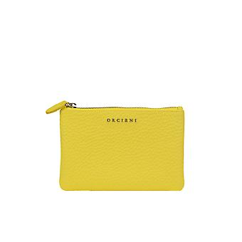 Orciani Ezgl048082 Women's Yellow Leather Wallet