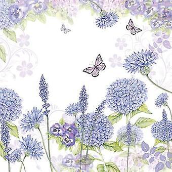 CraftEmotions napkins 5pcs - Purple wildflowers 33x33cm Ambiente 13309310