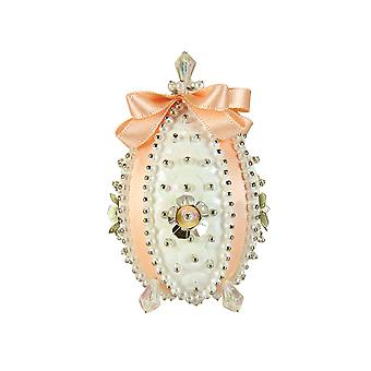 Pinflair Sequin & Pin Peach Carnation Faberge-Style Easter Egg