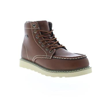 Lugz Roamer HI  Brown Leather Lace Up Casual Dress Boots Shoes