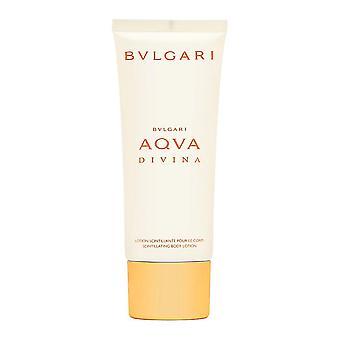 Bvlgari aqva divina für Frauen 3,4 oz schillernde Körperlotion