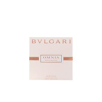 Bvlgari Omnia cristalina Edt Spray satinado bolsa de 25 Ml para las mujeres