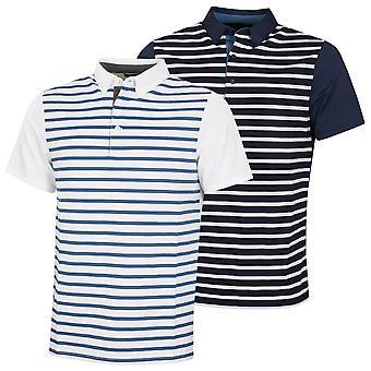 Wolsey Mens Stripe Front Stretch Technische Golf Polo Shirt