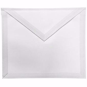Masonic white member apron