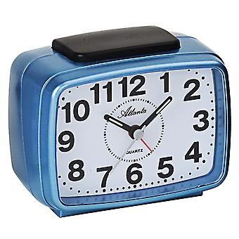 Atlanta 1323/5 Alarm clock quartz analog blue quiet without ticking with light snooze