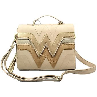 Loungefly Wonder Woman Cream Quilted Faux Leather Handbag