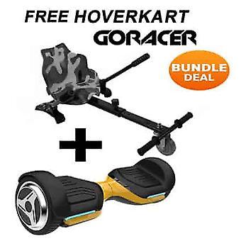 G PRO Gold Segway com um Racer Camo Hovercart