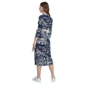 데시구알 퍼시픽 드림 하와이열대 프린트 미디 셔츠 드레스