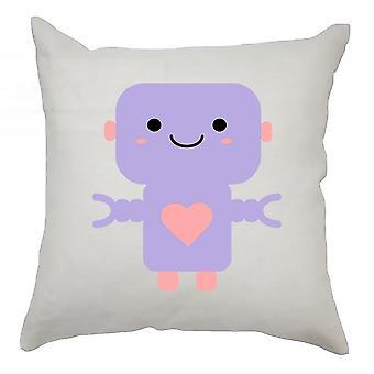 Robot Cushion Cover 40cm x 40cm - Purple Robot
