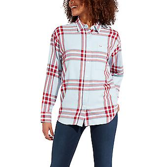 Wrangler Women's Western Shirt Loose Fit Checked