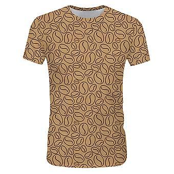 Allthemen 3D Coffee Bean Print Short Sleeve T-shirt for Men