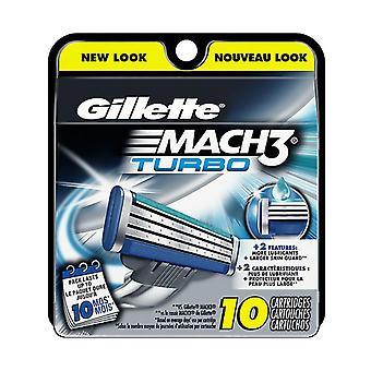 Gillette mach3 turbo rakblad refiller, 10 ea