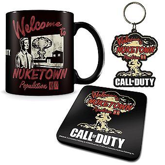 Call of Duty Nuketown Becher, Untersetzer & Schlüsselanhänger Geschenk-Set