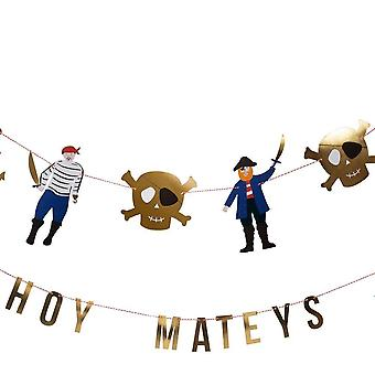 Meri Meri Pirates Bounty Garland Ahoy Mateys Pirate Party 2 x 1.5m