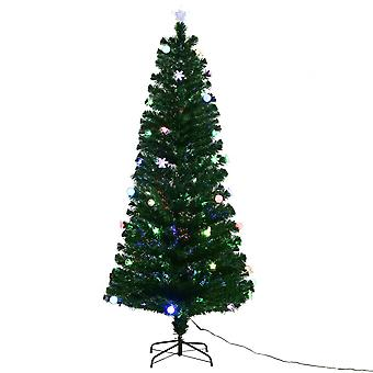 8FT Christmas Tree Luxury Fiber Optic Xmas Trees LED Lights Bauble Home Decor