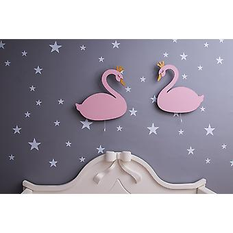 Magic Dreams Wandleuchte rosa Farbe, Gold in MDF, jede Lampe L40xP3xA25 cm