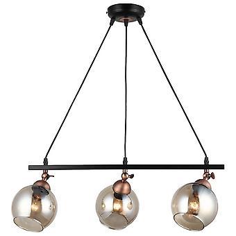 Serrta Fjädringslampa Svart Färg, Kopparmetall, glas, L15xP60xA90 cm