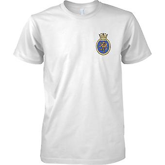 HMS Swiftsure - udrangeret Royal Navy skib T-Shirt farve