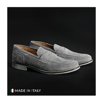 SB 3012 - shoes - moccasins - 1000_CAMOSCIO_GRIGIO - men - lightgray - EU 43