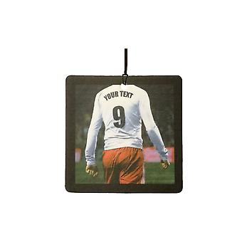 Custom Football / Soccer Player (White, Red) Car Air Freshener