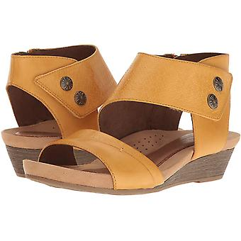 Cobb Hill Womens Hollywood 2 Piece Cuff Leather Open Toe Casual Platform Sandals
