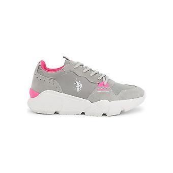 U.S. Polo Assn. - Shoes - Sneakers - BECKY4144S0_MS1_LIGR - Women - gray,deeppink - EU 39