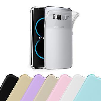 Cadorabo tilfældet for Samsung Galaxy S8 sag Cover-fleksibel TPU silikoneetui Ultra Slim Soft tilbage Cover sag kofanger