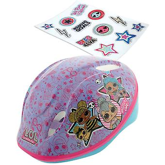 lol surprise safety helmet with stickers mv sports head size 48-54cm