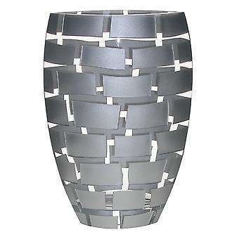 """12"""" Mund geblasen Wand Design Silber Vase"""