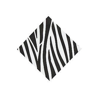 16 små zebra stripe trykt papir servietter