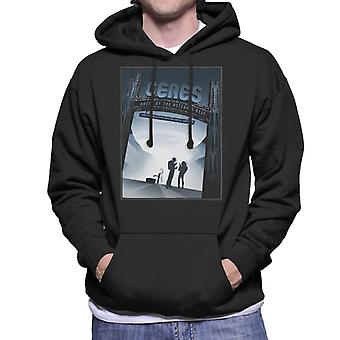 NASA Ceres Interplanetary Travel Poster Men's Hooded Sweatshirt