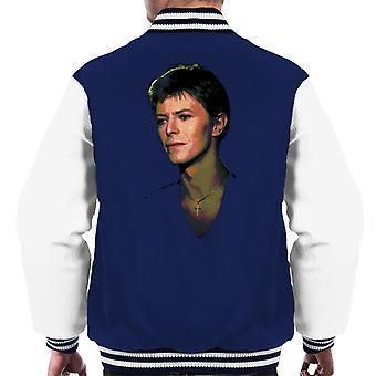 TV Times Pop Star David Bowie 1977 Men's Varsity Jacket