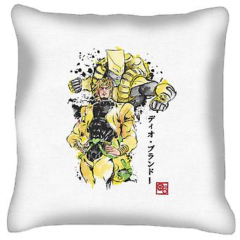 Yellow Jojos Bizarre Adventure Za Warudo Sumie Cushion