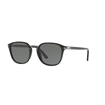 Persol PO3186S 95/58 Black/Polarised Green Sunglasses