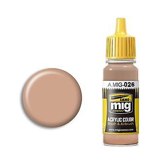 Ammo by Mig Acrylic Paint - A.MIG-0026 RAL 8031 F9 German Sand Brown (17ml)