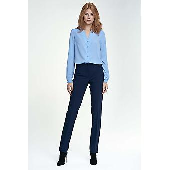 Marinblå nifebyxor&leggings