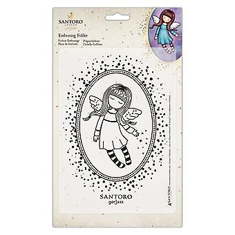 Gorjuss Embossing Folder A5 Bound For Heaven