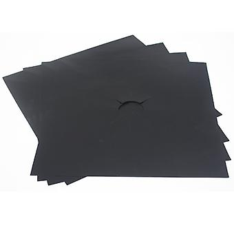 8PCS cocina quemador de cocina cubre negro