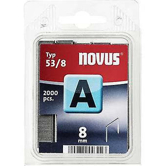Fine wire staple A 53/8 SH (2000 St) 2000 pc(s) Novus 042-0356 Clip type 53/8 super hard Dimensions (L x W) 8 mm x 11.3 mm