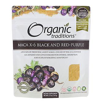 Organic Traditions, Maca X-6 Black and Red-Purple, 5.3 oz (150 g)