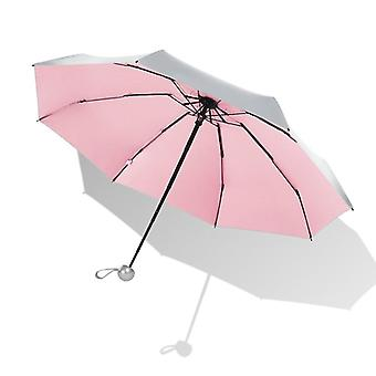 Mini Umbrella Anti UV Sun Rain Windproof Light Folding Umbrellas for Women Men Children