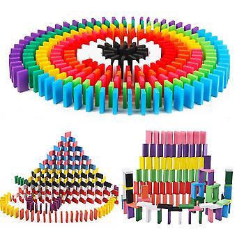 Blocs de domino colorés Jigsaw bois pour montessori early learning
