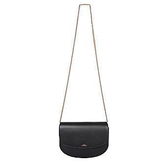 A.p.c. Pxblhf63318lzz Women's Black Leather Shoulder Bag