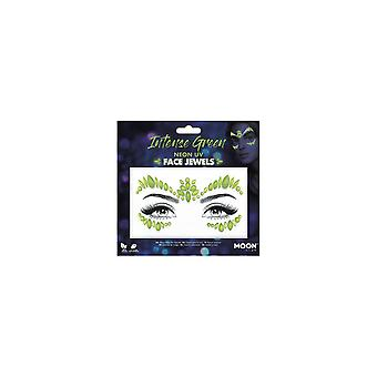 Smiffy's Moon Glow Face Jewels - Intense Green