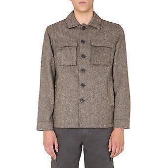 Aspesi Cg88l55320331 Men's Brown Wool Outerwear Jacket