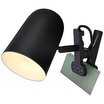 BRILLIANT Lampe Ayr Lampe noir mat | 1x D45, E14, 18W, pour lampes à goutte (non incluses) | Échelle A++