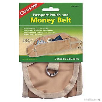 Bolsa de pasaporte y cinturón de dinero de Coghlan's, ajustable, llevar de forma segura objetos de valor